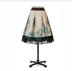 Anthropologie Floreat Wild Gardens Skirt Size 6